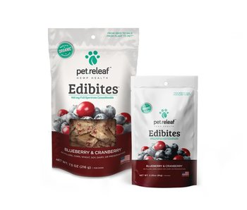 Pet Releaf Edibites CBD Blueberry Cranberry