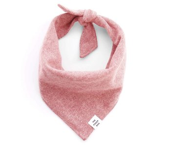 The Foggy Dog Heathered Cranberry Flannel Bandana
