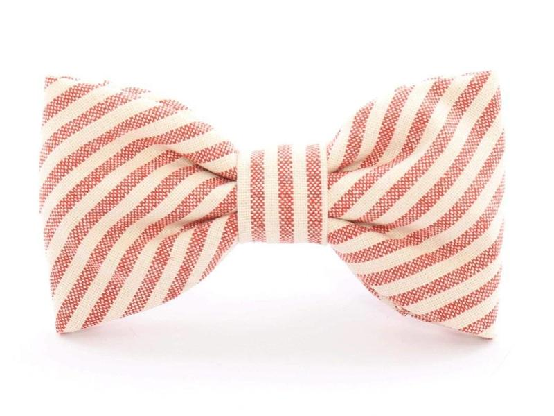 The Foggy Dog Red Stripe Dog Bow Tie