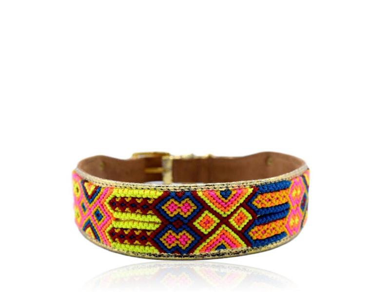 Collarist Woven & Gold Leather Collar