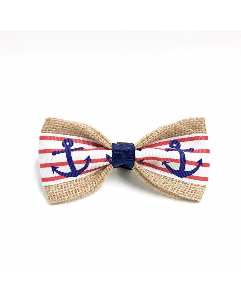 FEED Burlap Bow Tie, Anchors