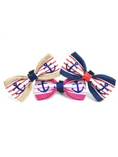 FEED Burlap Bow Tie, Anchors