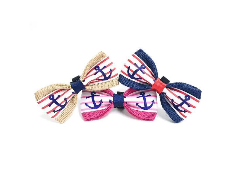 Burlap Bow Tie, Anchors