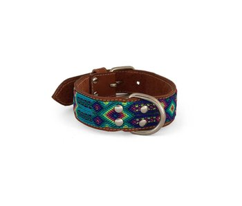 Nice Beast Friendship Leather Collar, Amarillo