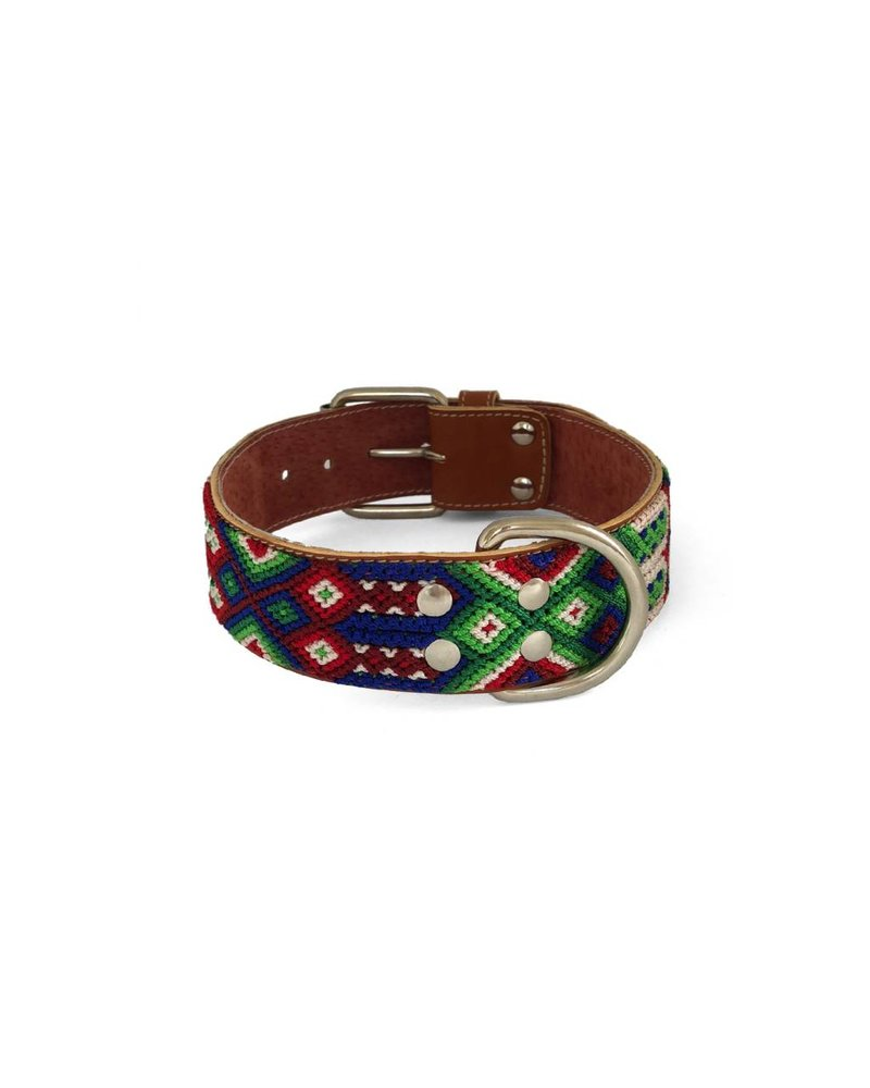 Nice Beast Friendship Leather Woven Collar, Mezcal
