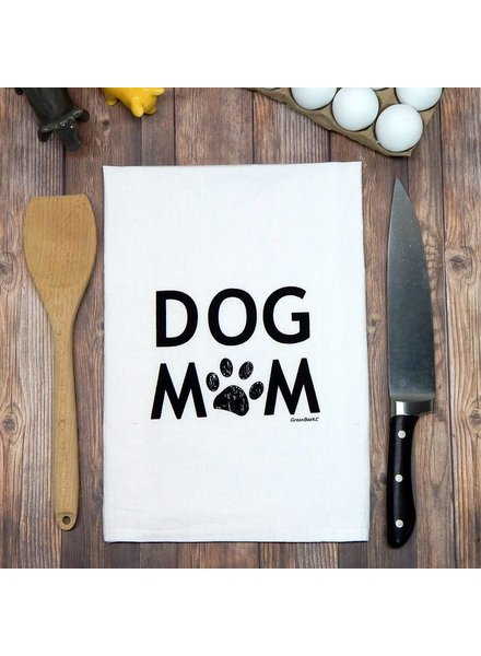 Green Bee KC Tea Towel, Dog Mom