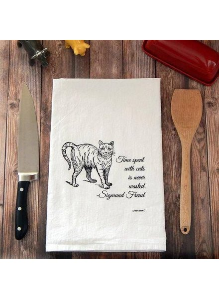 Green Bee KC Tea Towel, Cats