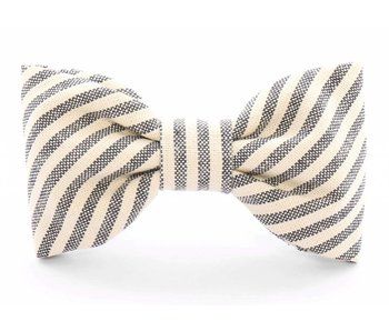 The Foggy Dog Charcoal Stripe Dog Bow Tie