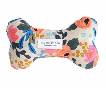 The Foggy Dog Rosa Flora Bone Toy Blue