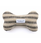 The Foggy Dog Ticking Stripe Bone Toy