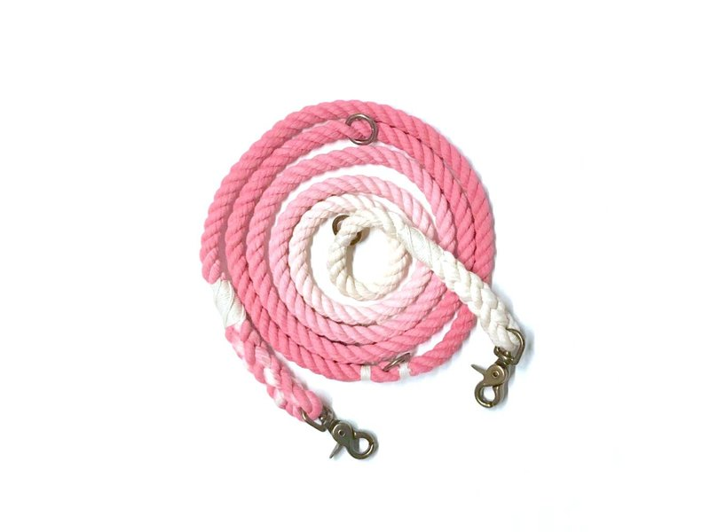 Green Trout Hands-Free Lead, Pink Ombre