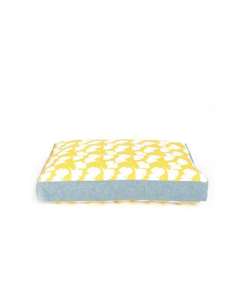 The Foggy Dog Charlie Cushion, Yellow Ginkgo