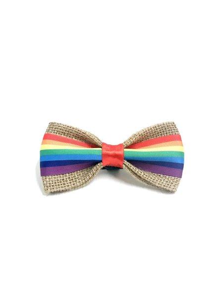 FEED Rainbow Pride Bow Tie