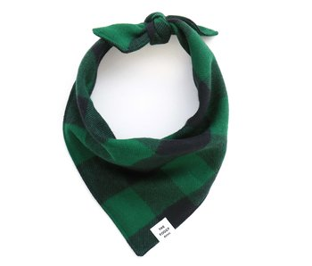 The Foggy Dog Green & Black Plaid Flannel Dog Bandana