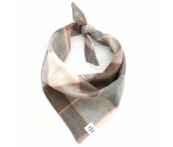 The Foggy Dog Aspen Plaid Flannel Dog Bandana, small