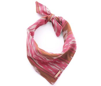 The Foggy Dog Pink & Chocolate Ikat Bandana