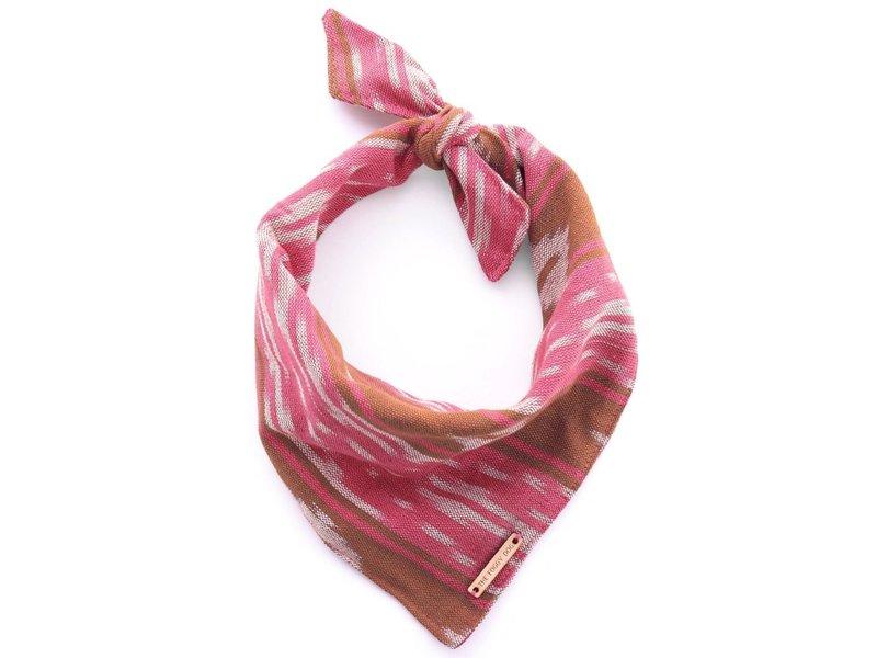 The Foggy Dog Pink & Chocolate Ikat Bandana