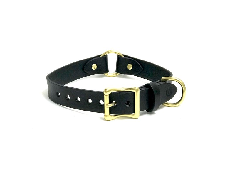 Bay Dog Co Bay Dog Leather Collar, Black