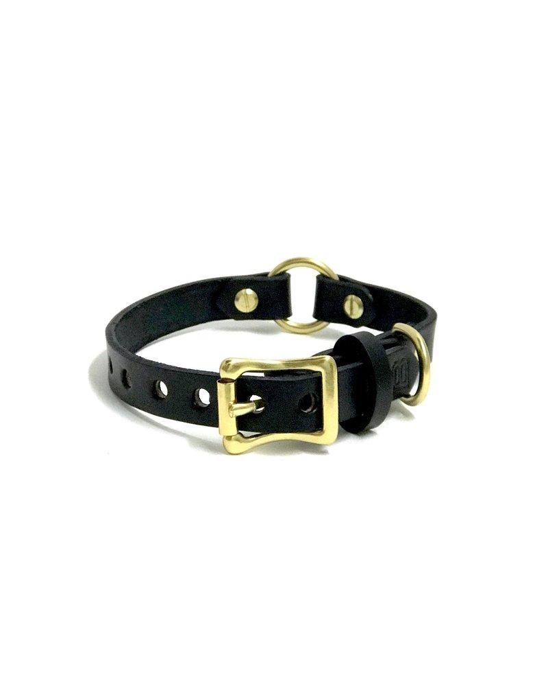 Bay Dog Co Bay Dog Leather Collar, Black