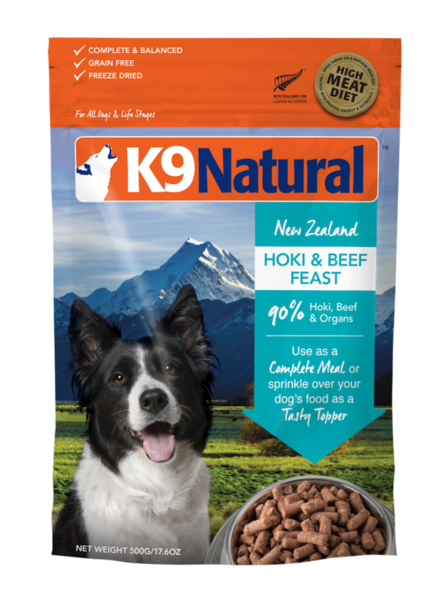 K9 Natural Raw Hoki & Beef Feast