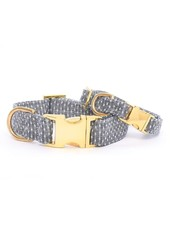 The Foggy Dog Swiss Dots Dog Collar