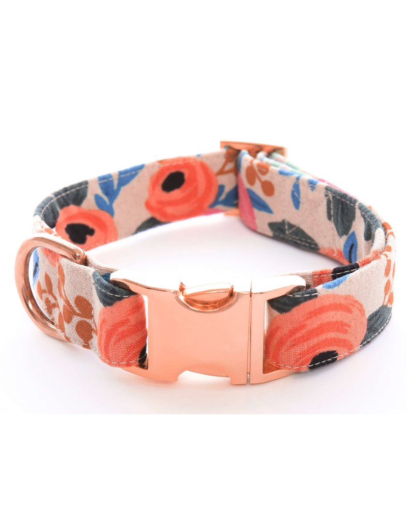 The Foggy Dog Rosa Floral Dog Collar, Natural