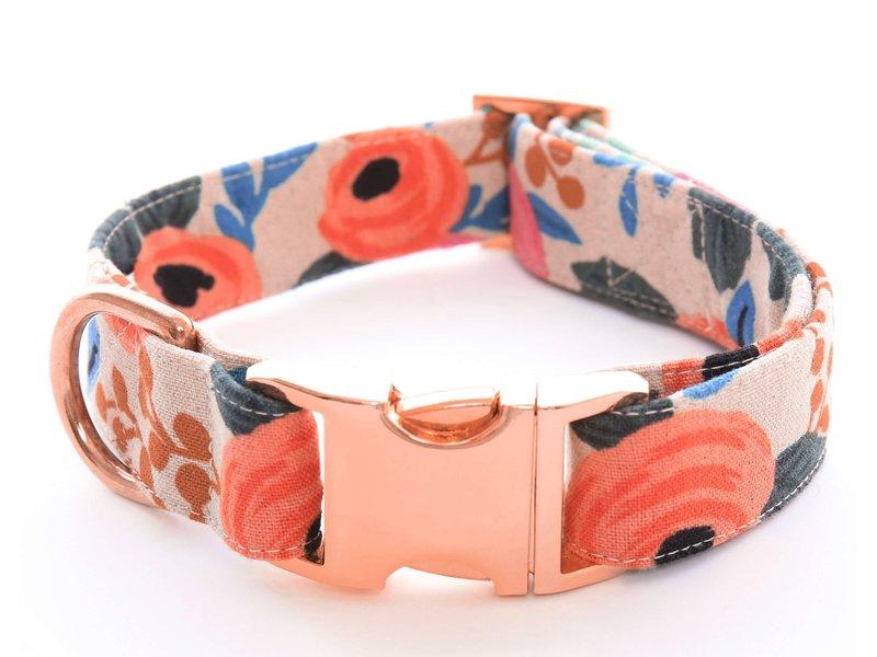 The Foggy Dog Rosa Floral Dog Collar