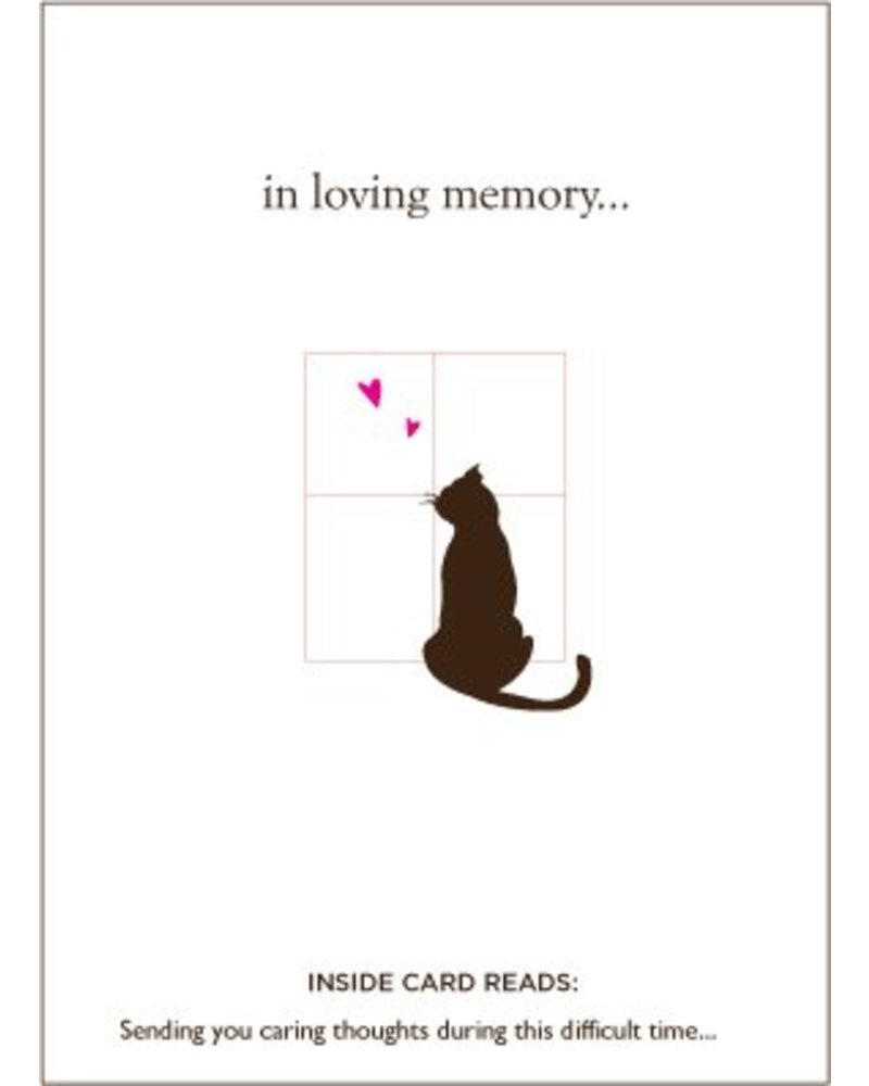 Luxe Pets Loyal Friend Cat Sympathy Card