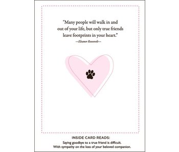 Paws and Love Pet Sympathy Card