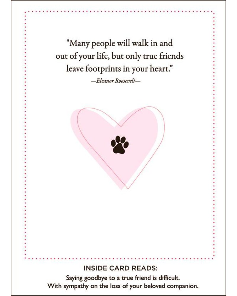 Luxe Pets Paws and Love Pet Sympathy Card