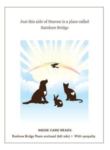 Luxe Pets Rainbow Bridge Pet Sympathy Card