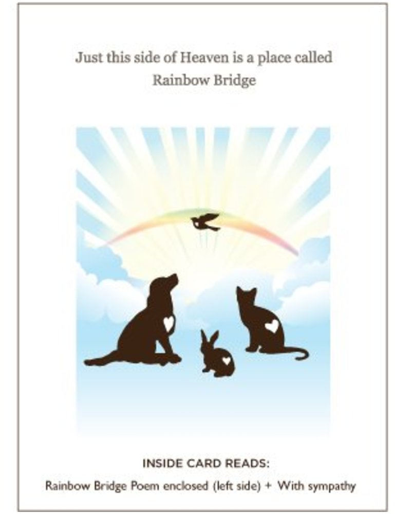Luxe Pets Rainbow Bridge Pet Sympathy Card