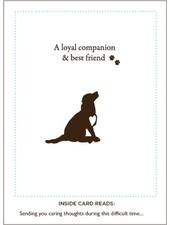 Loyal Friend Dog Sympathy Card