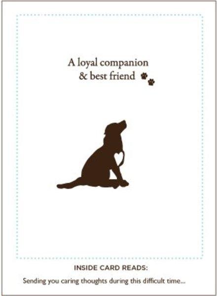 Luxe Pets Loyal Friend Dog Sympathy Card