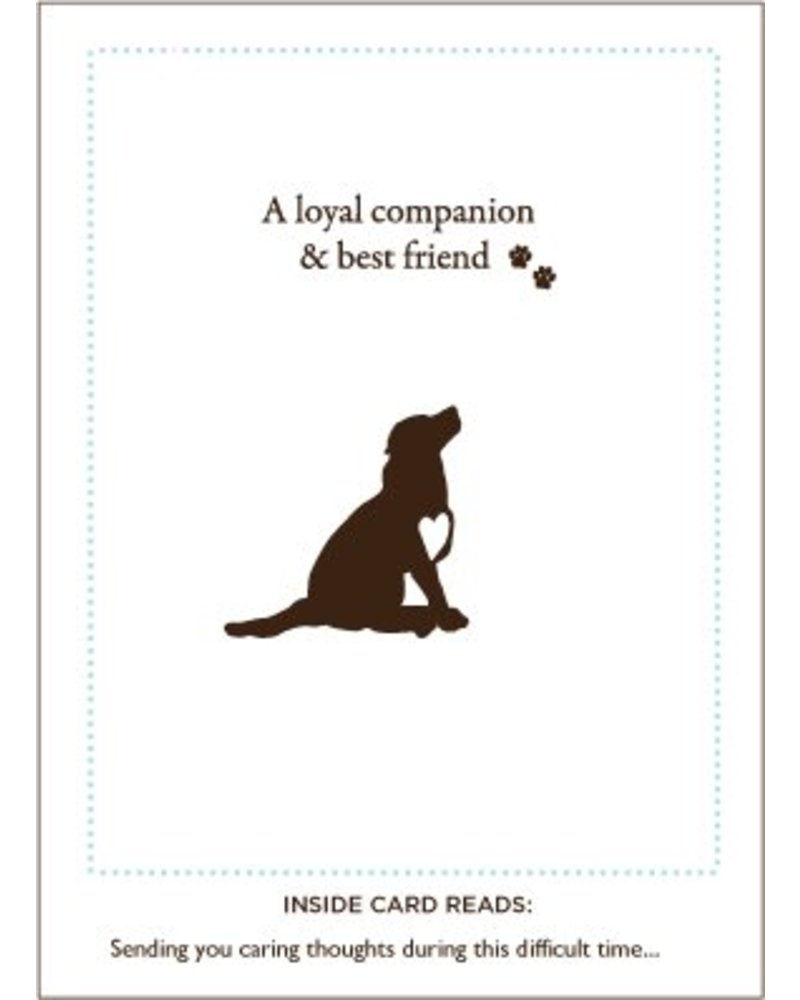 Luxe Pets Loyal Friend Dog Sympathy Card