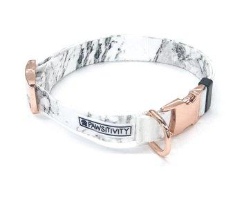 Pawsitivity White Marble Collar