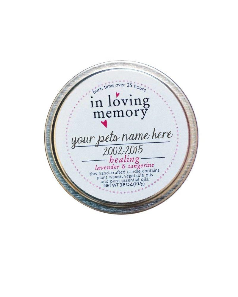 Pet Lovers Memorial Candle Kit