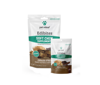 Pet Releaf Edibites Peanut Butter & Carob Swirl