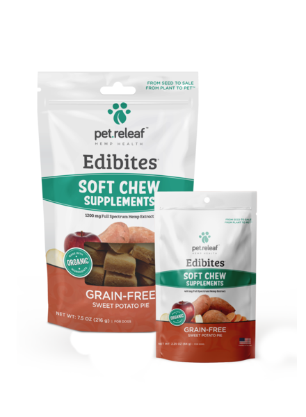Pet Releaf Edibites Soft Chews Sweet Potato Pie