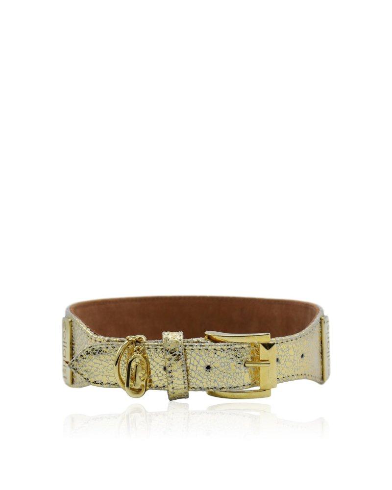 "Collarist Woven & Gold Leather Friendship Collar ""Endless Friendship"""