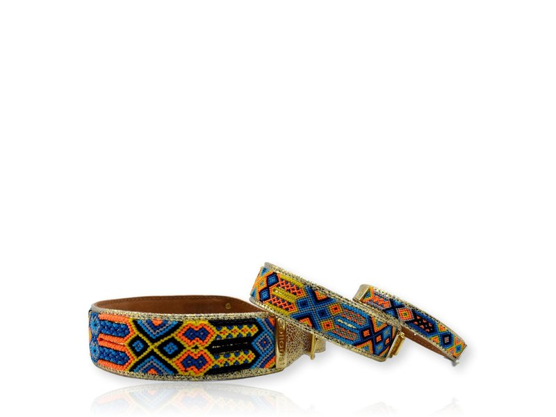 "Collarist Woven & Gold Leather Friendship Collar ""Endless Friendship"""