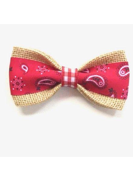 FEED Burlap Bow Tie, Bandana