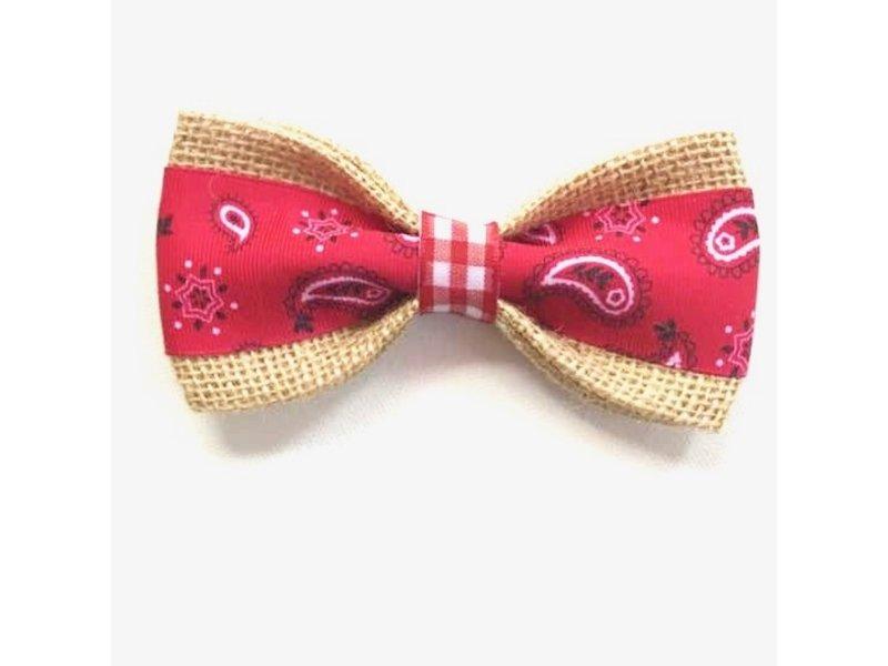 Burlap Bow Tie, Bandana