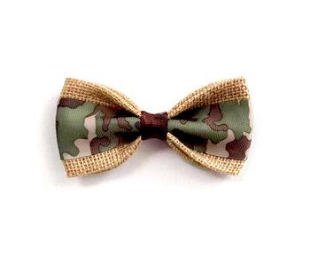 Burlap Bow Tie, Camo