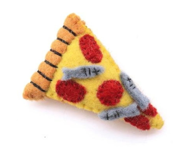 The Foggy Dog Pizza Cat Toy