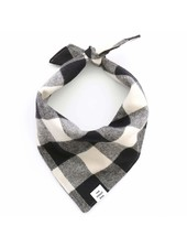 The Foggy Dog Buffalo Check Bandana, Black & White