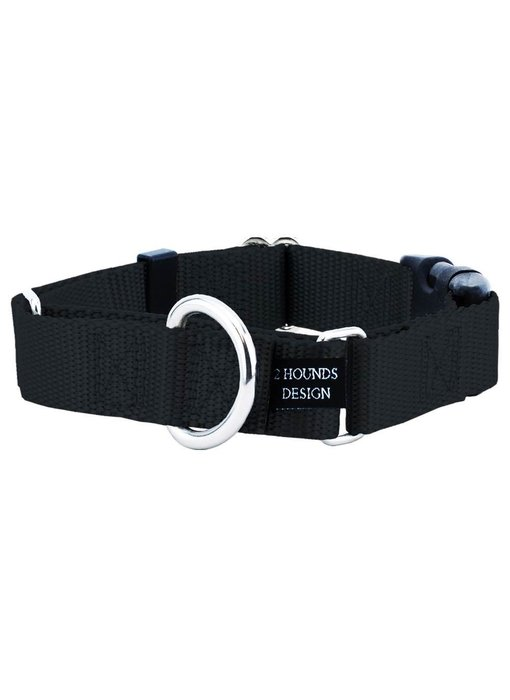 2 Hounds Design Buckle Martingale, Black
