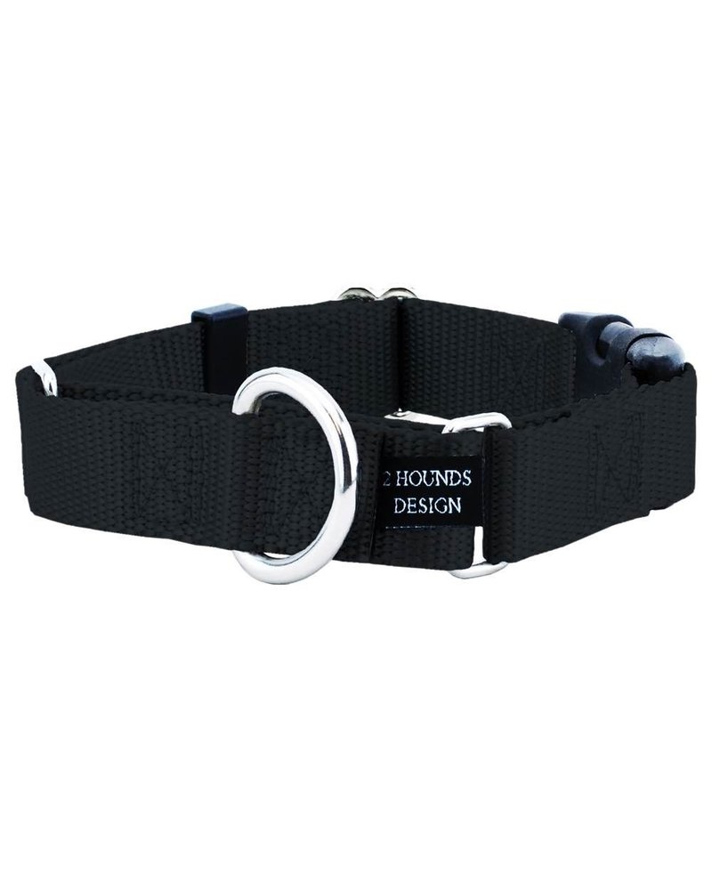 2 Hounds Design Buckle Martingale Combo, Black