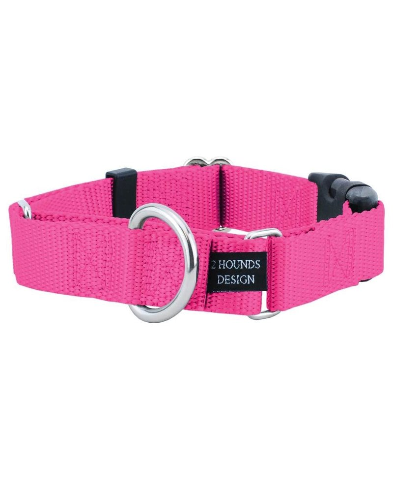 2 Hounds Design Buckle Martingale Combo, Hot Pink