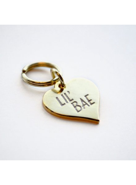 Boldfaced Goods Pet Tag, Lil Bae